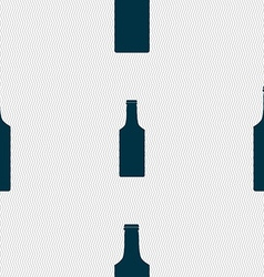 Bottle icon sign seamless pattern with geometric vector