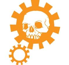 Gear skull c vector