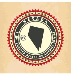 Vintage label-sticker cards of nevada vector