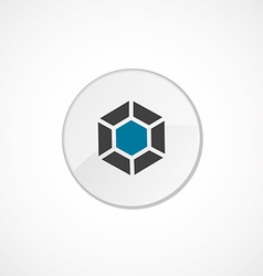 Diamond icon 2 colored vector