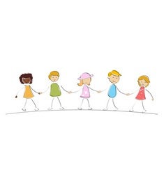 Multi racial kids vector