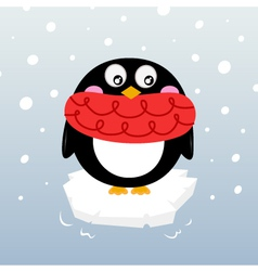 Winter penguin vector