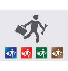People late for work icons vector