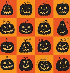 Set of a scary halloween pumpkin vector