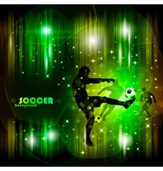 Colorful abstract soccer poster vector