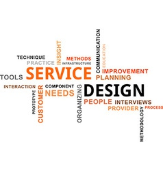 Word cloud service design vector