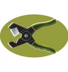 Cutting plier vector