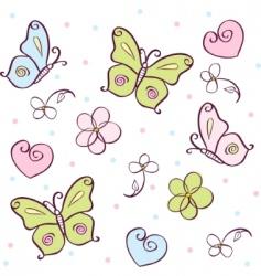 Butterfly cartoons vector