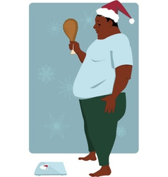 Gaining weight on holiday season vector