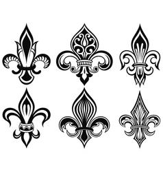 Fleur de lys vintage design icons vector