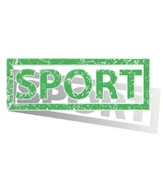 Green outlined sport stamp vector