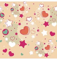 Cute valentine seamless pattern vector