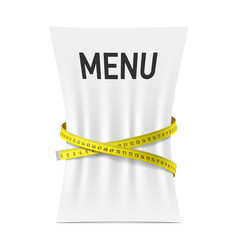 Menu squeezed by measuring tape vector