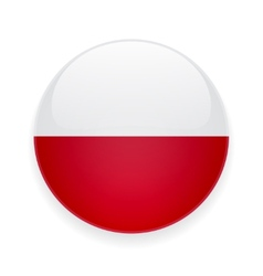 Round icon with flag of poland vector