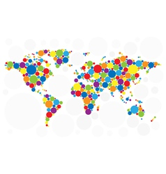 World map of colorful bubbles vector
