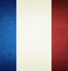 Grunge flag of france vector