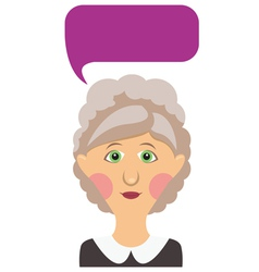 Elderly woman and bubble vector