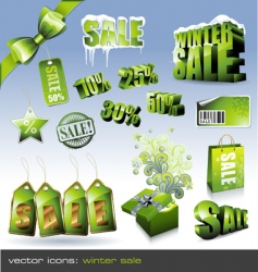 Winter sale sign vector