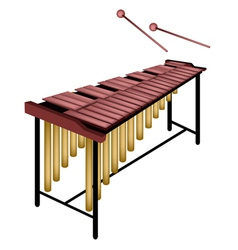 A musical marimba isolated on white background vector