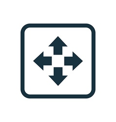 Move icon rounded squares button vector