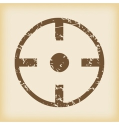 Grungy target icon vector