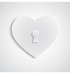 Paper heart with keyhole vector