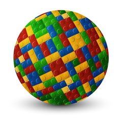 Plastic pieces sphere vector