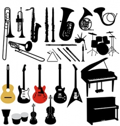 Music instruments vector