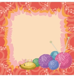 Background accessories for knitting vector