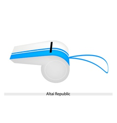 White and blue stripe on altai republic whistle vector