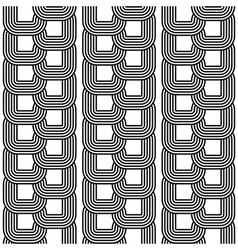 Design seamless monochrome chain geometric pattern vector