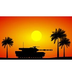 Modern heavy tank vector