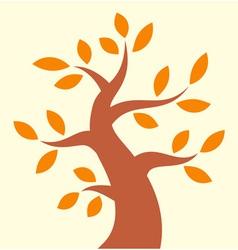 Autumn tree icon vector