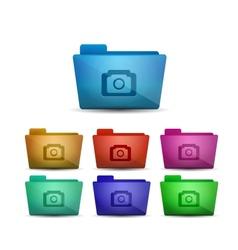 Photo folder vector