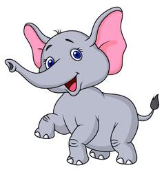 Elephant cartoon dancing vector
