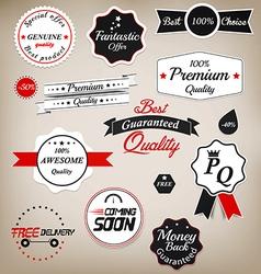 Prenium quality labels 2 vector