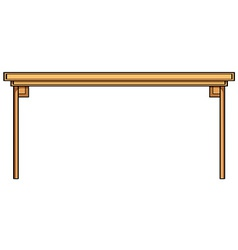 Wooden table vector
