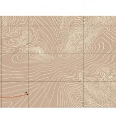 Mountain contours vector