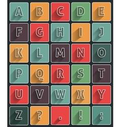 Long shadow alfabet vector