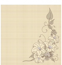 Flowers on canvas vector