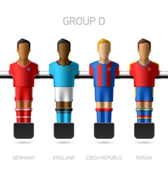 Table football foosball players group d vector