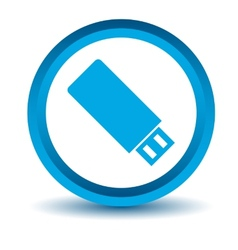 Blue flash drive icon vector