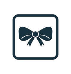 Festive bow icon rounded squares button vector