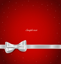 Shiny ribbon on red background with copy space vector