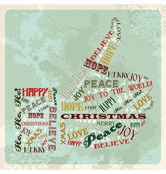 Vintage merry christmas concept hand vector