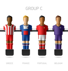 Table football foosball players group c vector