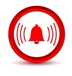 Red alarmclock icon vector