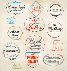 Set of badge and labels 3 vector