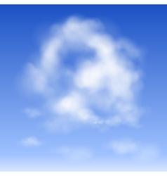 Cloud in the sky vector