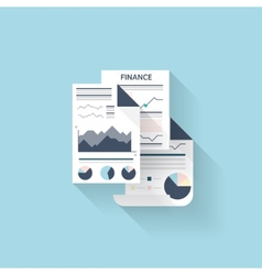 Flat web iconfinancial information vector